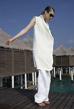 Celine Phoebe Philo $3,500 White Sleeveless Jacket / Vest Size 36