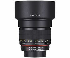 Samyang 85mm F1.4 UMC Aspherical Telephoto Lens for Canon EOS DSLR +Free GIFT
