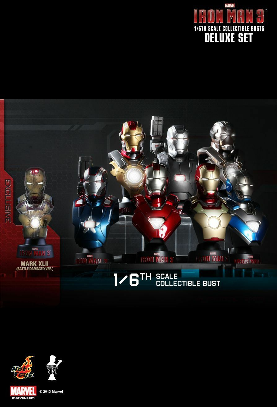 Hot ToysIron Man 3 Collectible Bust Series 1 1/6th scale Set of 8