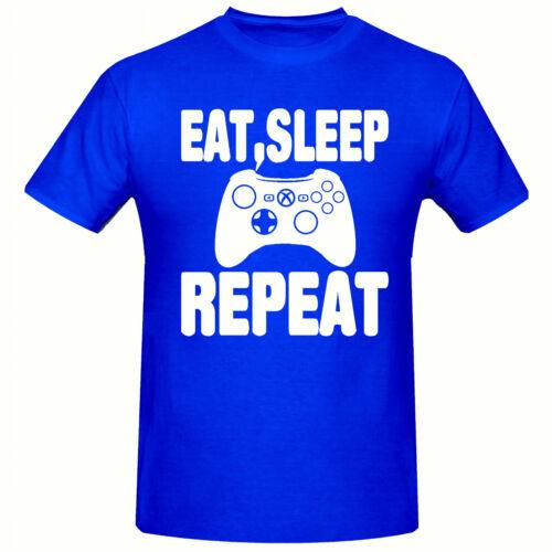 gioco ripetere t-shirt Per Bambini BIG Slogan mangiare Ragazzi Maglietta 3-15 anni dormire