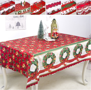 Christmas-Printed-Tablecloth-Xmas-Party-Kitchen-Dining-Table-Cover-Decor-150-180