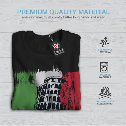 Wellcoda Italy Mens Sweatshirt Italy City Casual Pullover Jumper