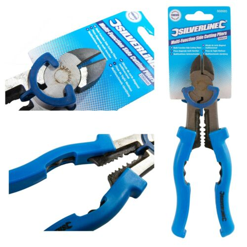 Multi-function Side Cutting Plier Wire Cutter Electricians Tool Linemans Crimper