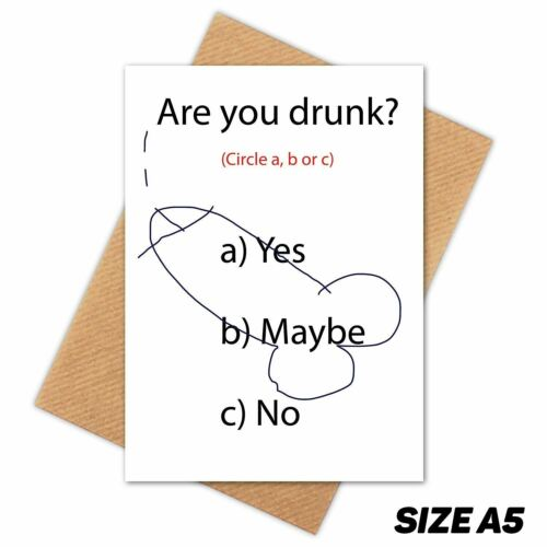 ARE YOU DRUNK HAPPY BIRTHDAY CARD FUNNY GREETINGS CARD