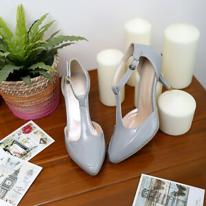 Womens-T-Strap-Low-Heel-Mary-Janes-Pumps-Court-Party-Summer-Sexy-Shoes-ALL-Uk-Sz