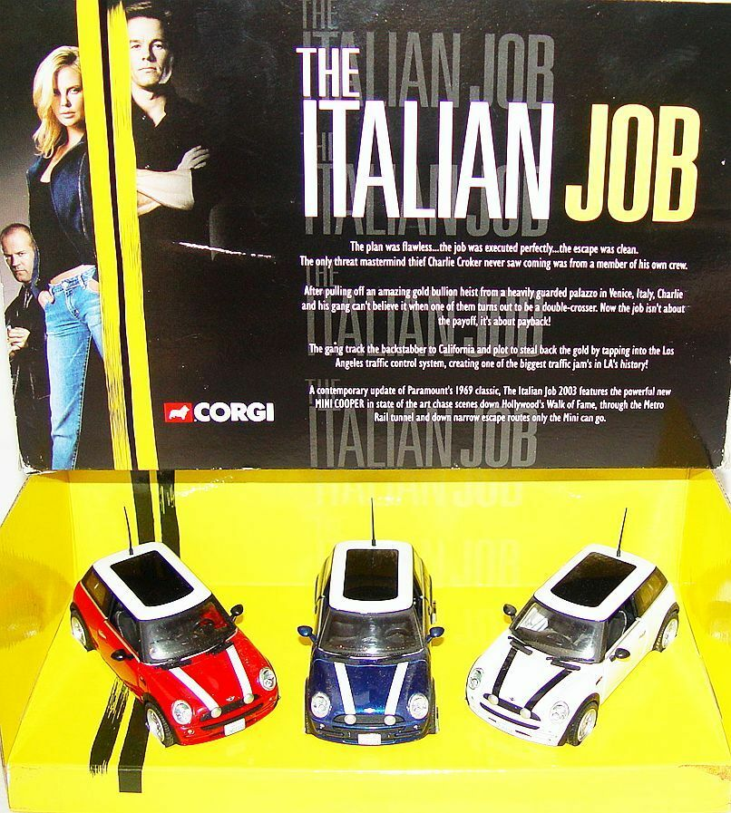 Corgi Toys 1:36 MORRIS MINI COOPER ITALIAN JOB Rally 3 Car Set 99138 MIB`03 RARE