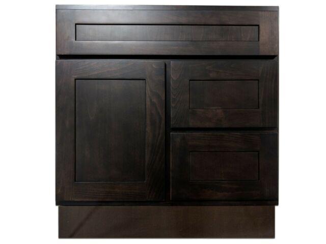 Kingway 30-inch Vanity Cabinet with Right Drawers Expresso ...