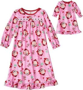 Elf-on-the-Shelf-Pink-Nightgown-with-Matching-Doll-Gown-Girls-Size-2-2T-New-NWT