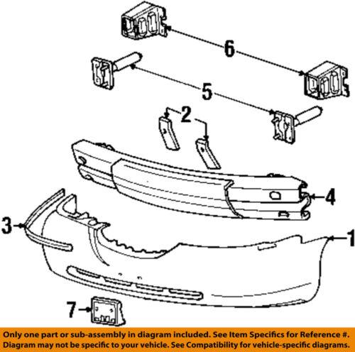 Lincoln FORD OEM Town Car Bumper Face-Foam Impact Absorber Bar Right 6W1Z17754B