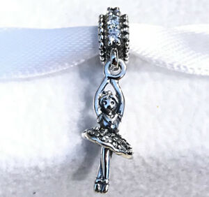 f29de7938f7 Image is loading Pandora-Ballerina-Dancer-Dangle-Charm-Clear-CZ-791365CZ-
