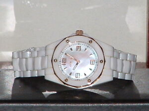 Pre-Owned-Invicta-10259-White-Ceramic-Mother-of-Pearl-Sport-Analog-Quartz-Watch