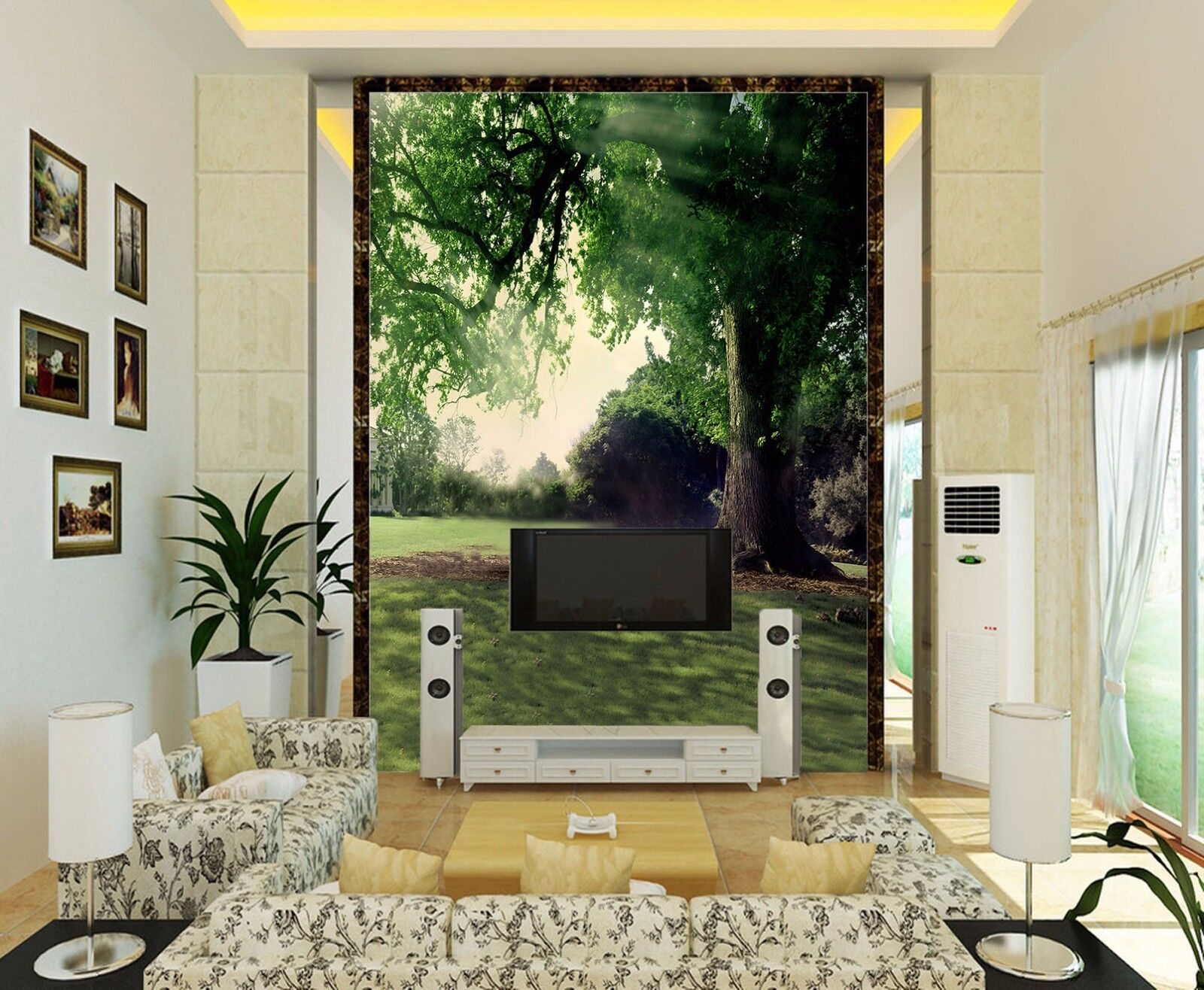 3D Baum Sonnenschein 9 Tapete Wandgemälde Tapete Tapeten Bild Familie DE Summer | Qualitätskönigin  | Hohe Sicherheit  | Lassen Sie unsere Produkte in die Welt gehen