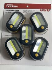 HYPER TOUGH 2 IN 1 MAGNETIC WORK LIGHT 5 PACK 150 LUMENS WITH 360 DEGREE HOOK