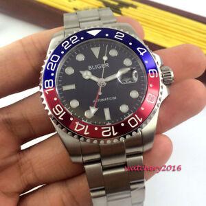43mm-BLIGER-Date-Luminous-GMT-Sapphire-Pepsi-Bezel-Automatic-Movement-mens-Watch