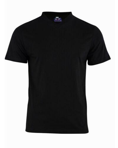 MEN/'S V Neck SHORT SLEEVE DESIGNER SHIRT TOP QUALITY PLAIN UK SELLER