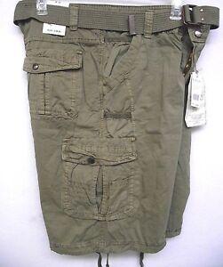 Mens Cargo Shorts With Drawstring Legs