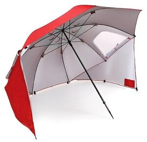 Image is loading Sportbrella-8-039-Red-Sport-Brella-Large-Umbrella-  sc 1 st  eBay & Sportbrella 8u0027 Red Sport Brella Large Umbrella Sun Weather Shade ...