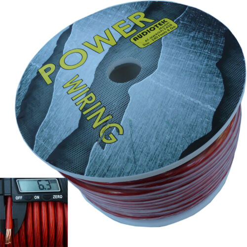 8 GAUGE SUPER FLEXIBLE WIRE 240 FT RED ROLL SPOOL FEET AWG HYPERFLEX 240/' USA