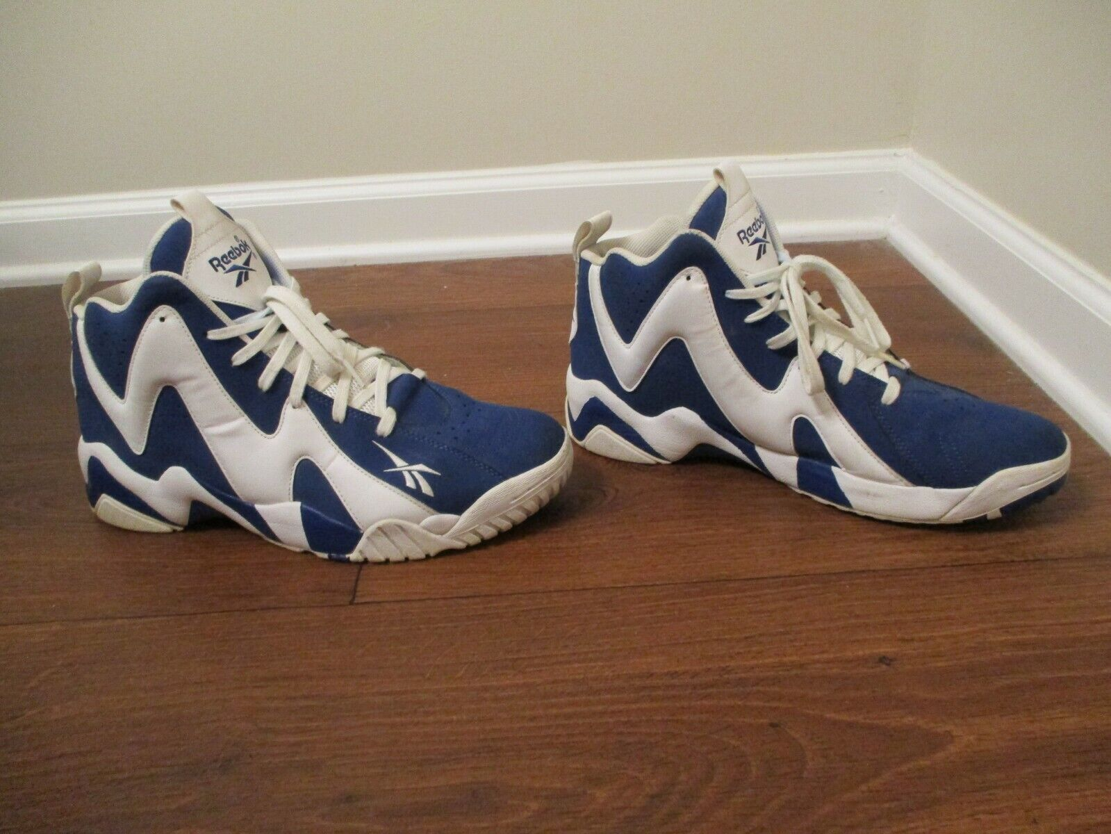 Usado Usado Reebok Kamikaze 2 carta de Intent Kemp II Zapatos Azul blancoo