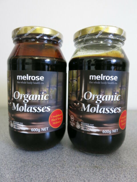 Melrose Organic Molasses 600g (Unsulphured Black Strap Molasses) - 2 Bottles