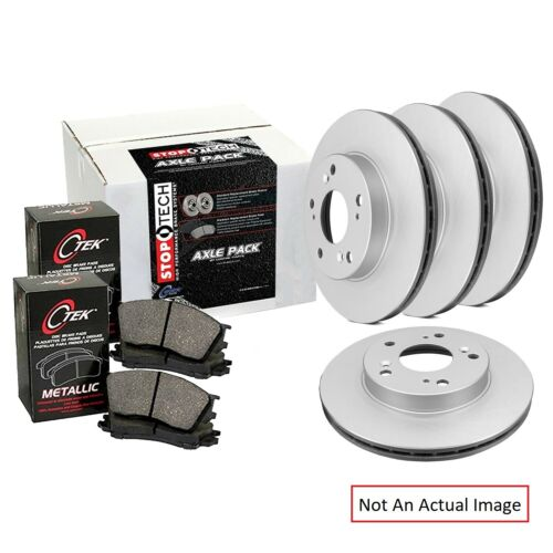 Centric 905.33092 Semi-Metallic Front and Rear Disc Brake Pad and Rotor Kit