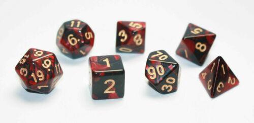 00-90 Mischfarbe 0-9 ,W8,W6,W4 mixed Color ,W10 Würfel-Dice-Set: W20,W12,W10