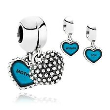 Authentic Pandora Sterling Silver Piece of My Heart Mother & Son Bead 791152EN08