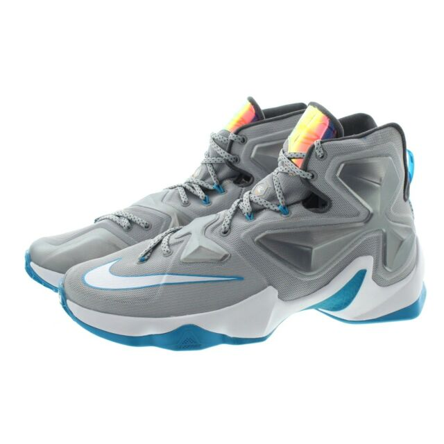 17e5e9193b12e Nike Air Max Lebron XIII 13 Gray Blue Basketball Shoes 807219-014 Sz ...