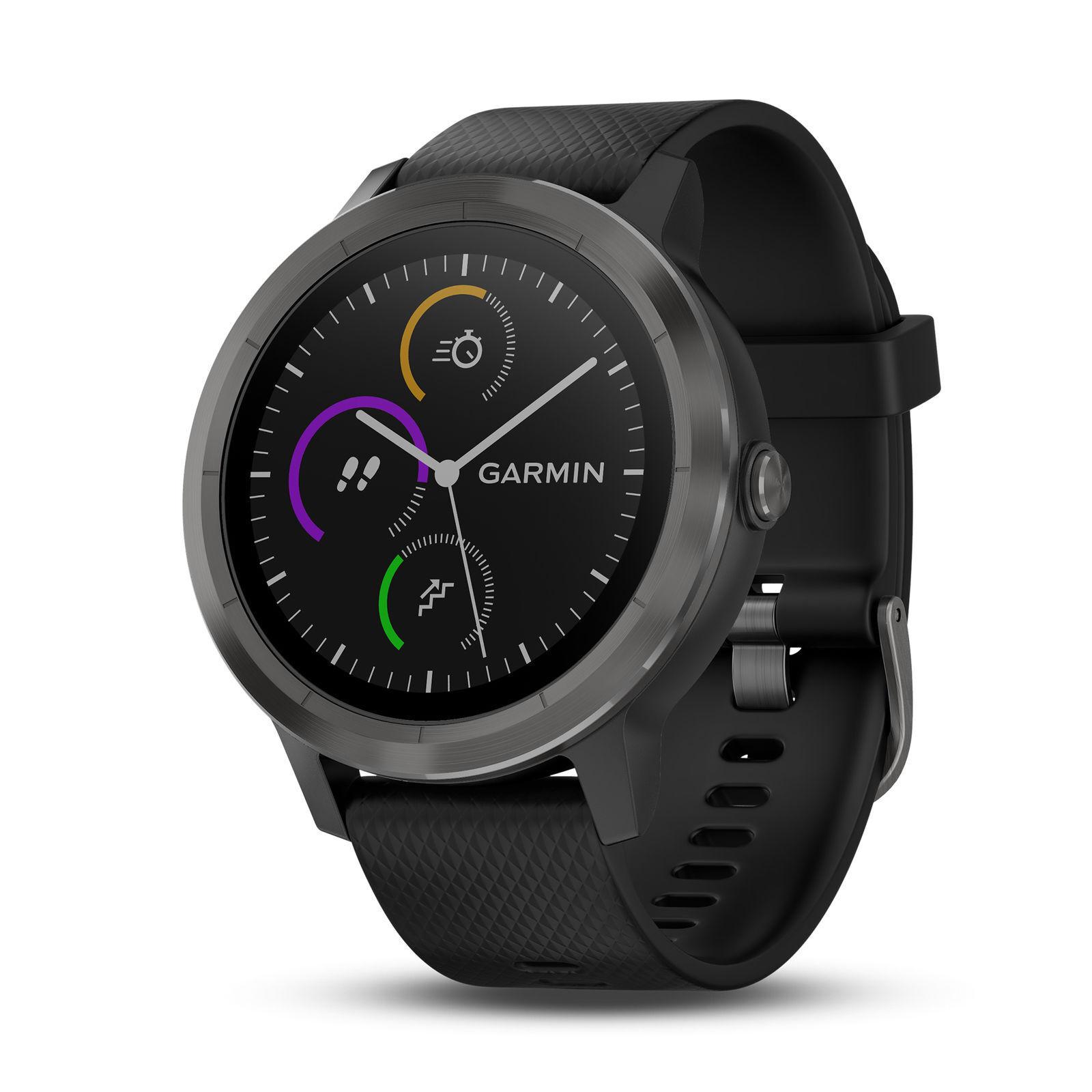 Garmin Vivoactive 3 3 3 GPS Smartwatch Schwarz/Rotguss 010-01769-11 c3c104