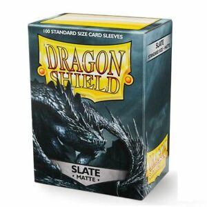 100 Dragon Shield standard sized sleeves-Slate maletero-negro Pokemon Magic