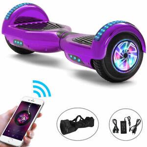 Hoverboard Lila 6,5 Zoll Elektro Scooter Bluetooth LED ElektroRoller Für Kinder