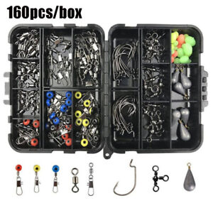 tackle-box-Sinker-weights-Fishing-Accessories-Kit-Swivels-Snaps-Jig-Hooks