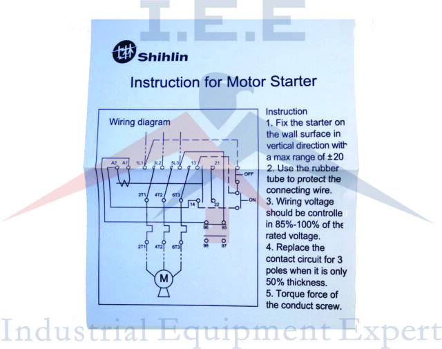 3 Wire Motor Starter Control Diagram