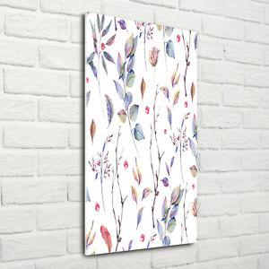Wandbild-Kunst-Druck-auf-Hart-Glas-hochkant-70x140-Eukalyptusblatter