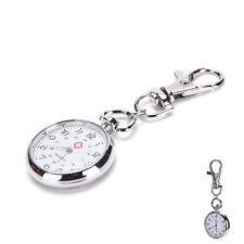 stainless steel Quartz Pocket Watch Cute Key Ring Chain JN