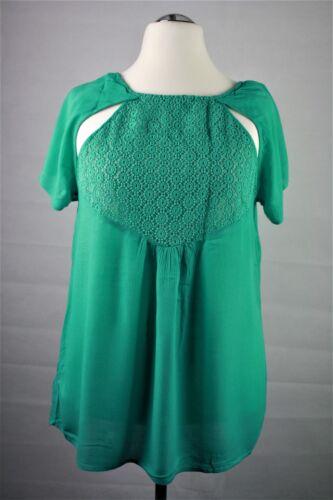 48 Sheego Shirt Bluse grün Damen Gr