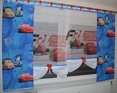 DISNEY CARS Gardine Kindergardine Kinderzimmer Baby Gardine Autos Vorhang NEU