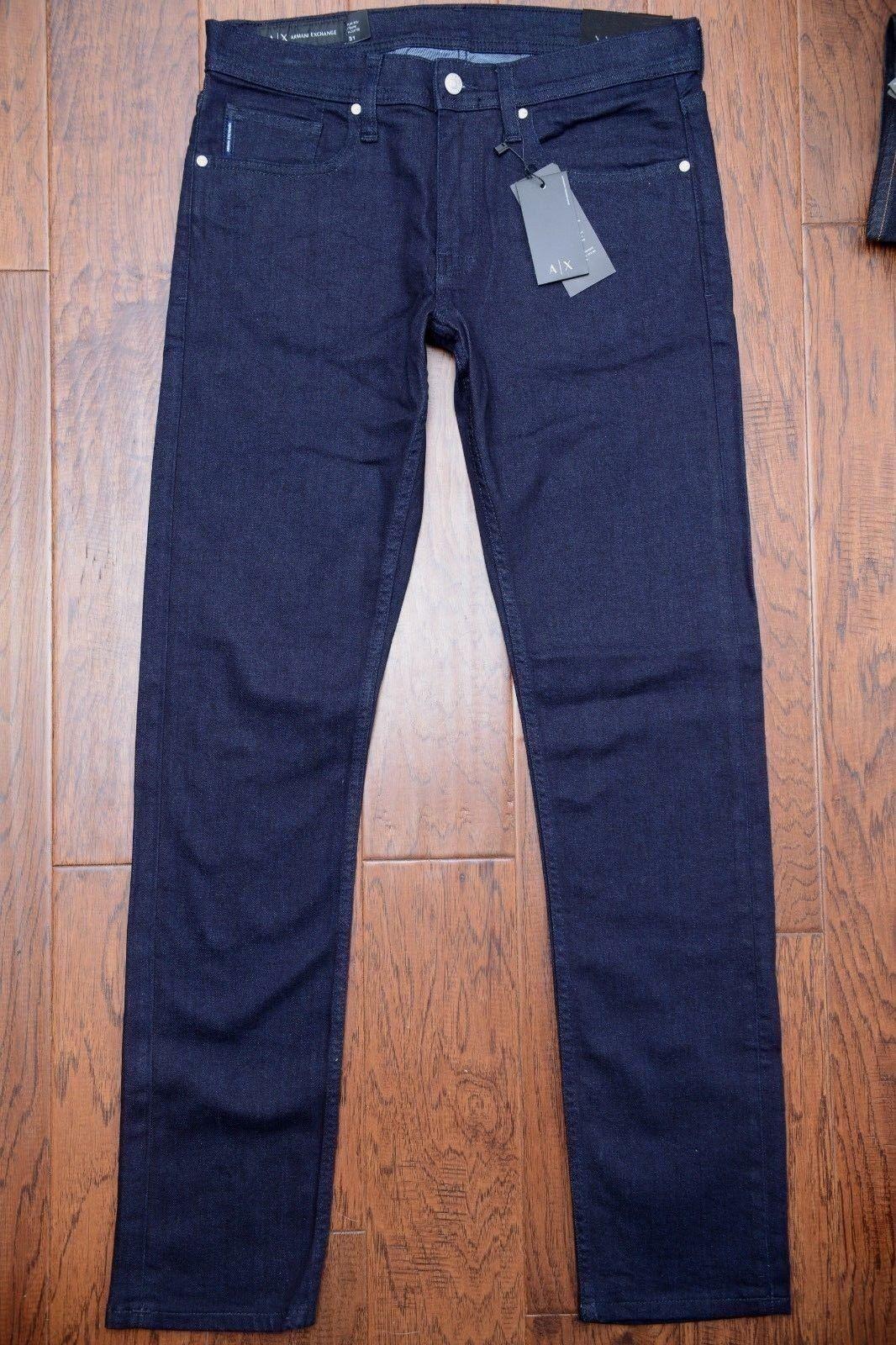 Armani Exchange A X Herren Enganliegend Stretch Baumwolle-Marine Jeans 31 W31  | Online Outlet Shop  | Sonderkauf  | Tadellos