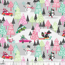 Holly Hollies Fruit Evergreen Christmas Holiday Cotton Fabric Print D338.03