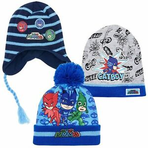 b3eb0448c Details about Boys Kids Children Pj Masks Boys Warm Winter Knitted Hat Hats  Age 3-9 Years