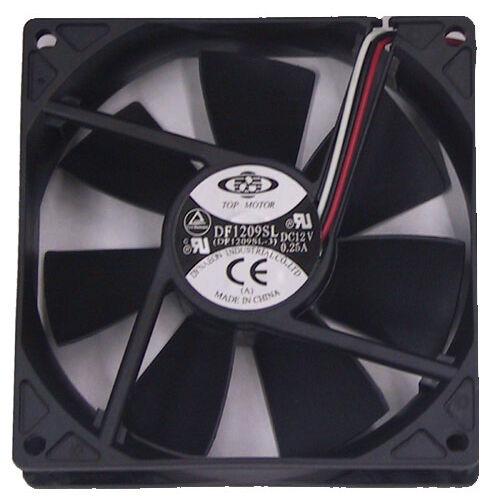 Top Motor DF129225 92mm x 25mm Low Speed Sleeve Cooling Fan 3//4 pin DF1209SL