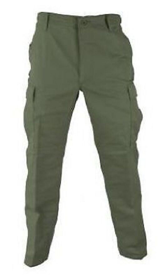 US Propper Army BDU Military Pants Trousers Field Twill Olive Green Large Long