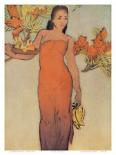 Healani, Royal Hawaiian Hotel Menu Cover c.1950s Art Print by John Kelly, 9x1...