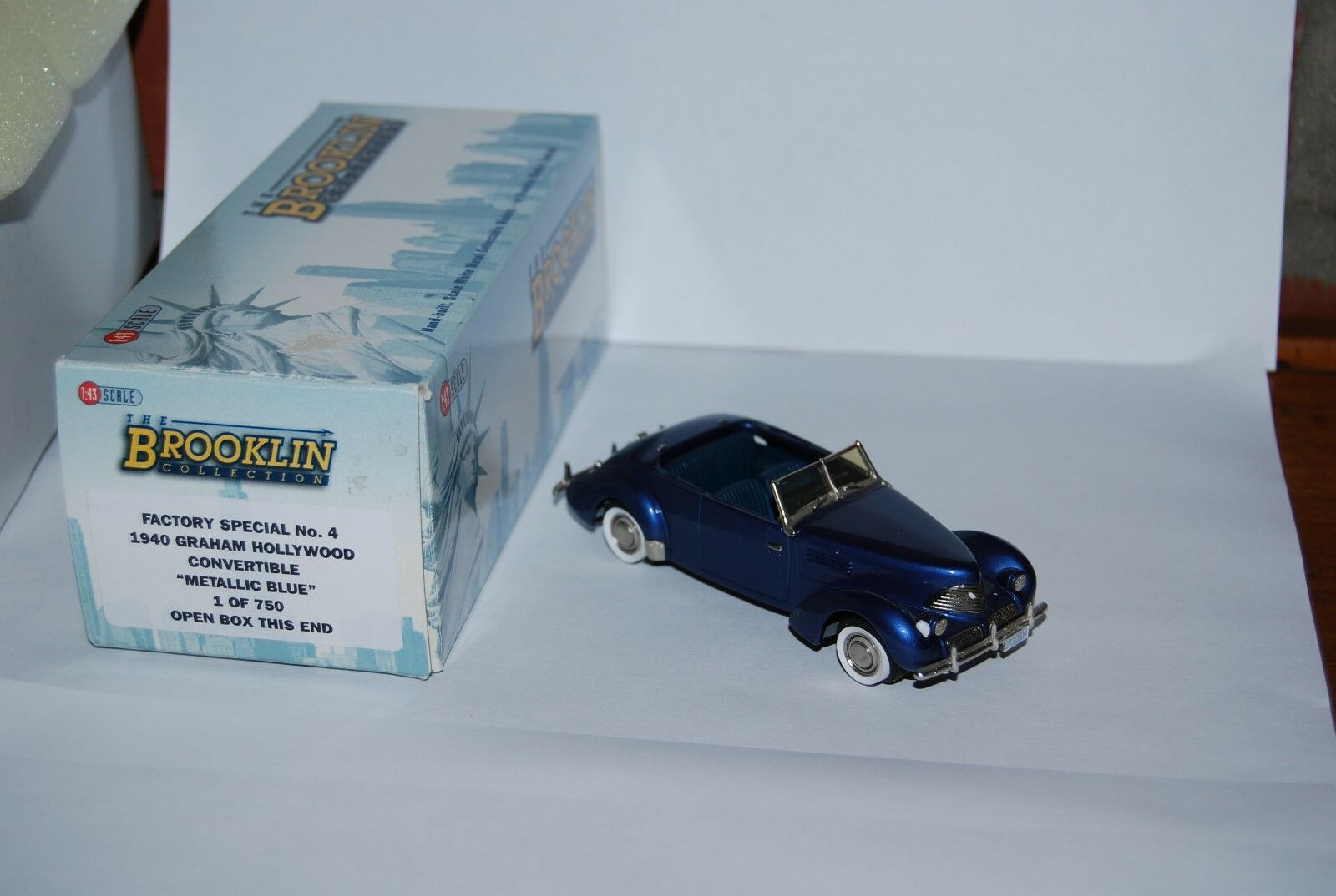 BROOKLIN N°4 GRAHAM HOLLYWOOD CONVERTIBLE METALLIC bleu 1 OF 750 NEUVE BOITE