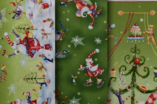 100/% Tela De Algodón Tela de Navidad más alegría por P/&B Varios Diseños
