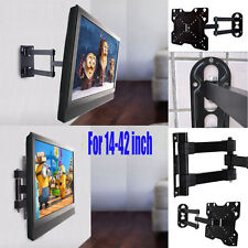 "Full Motion TV Wall Mount Swivel Bracket 14 20 27 32 37 42"" LED LCD Flat ScreenV"