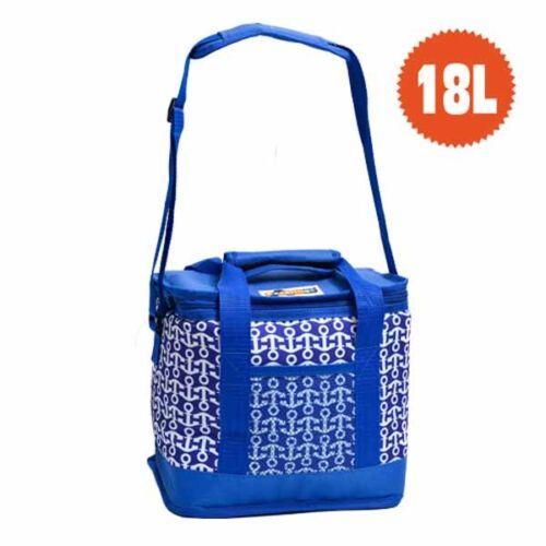 Borsa Frigo Marine Paoletti 18 litri dimensione cm 33x21x28 colore blu e bianco