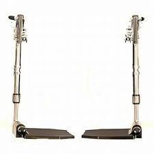 Invacare Wheelchair Swing Away Footrests without Heel Loops, 1 Pair, T93HEP