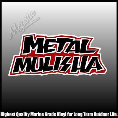 150mm X 120mm X 2 METAL MULISHA SKULL DECALS DECAL