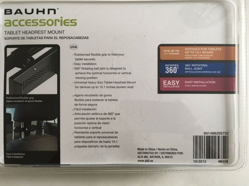 New Bauhn Accessories Tablet Headrest Mount, Tablets Computers